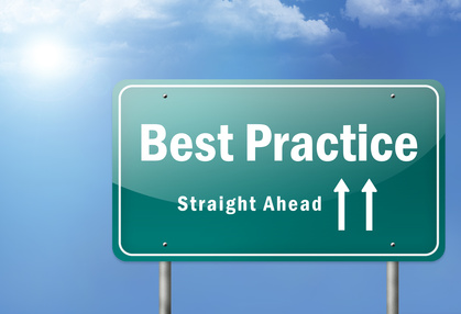 "Highway Sign ""Best Practice"""